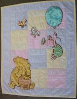 Baby Quilt - pooh, piglet & butterflies