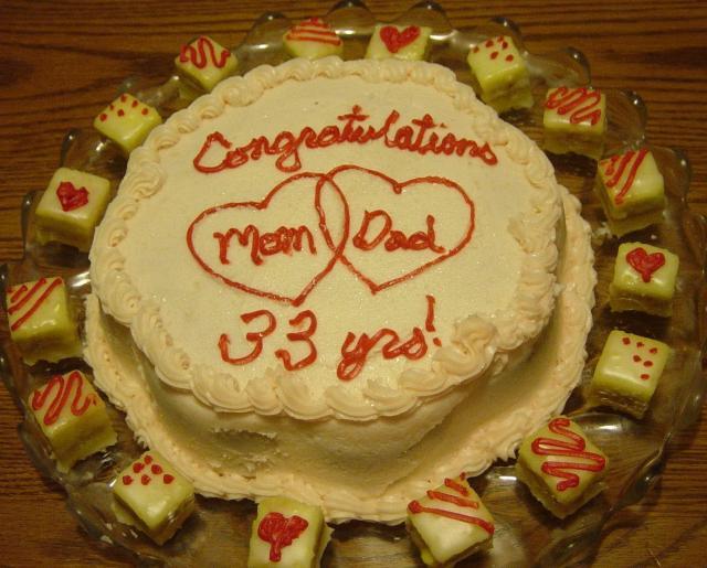 Mom & Dad's Anniversary Cake