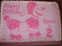 Pink Poodle Cake